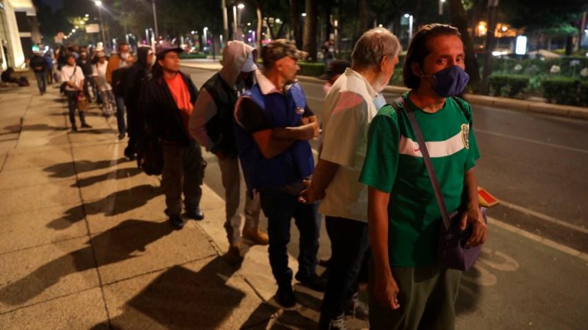 Personas en situación de calle en la capital mexicana