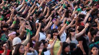 Protesta de mujeres en México