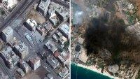 Desde el espacio: así se ven los bombardeos en Israel y Gaza